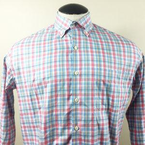 P8 Peter Millar Crown Ease Button Front Shirt